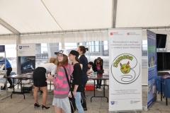 """Stoisko pt. """"Nie tylko rosiczka – drapieżne rośliny w skali mikro"""" na XII Bałtyckim Festiwalu Nauki"""