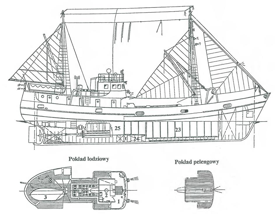 Ogólny plan lugotrawlera typu B-11 Birkut