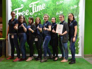 Nagroda dla Akwarium Gdyńskiego za najatrakcyjniejsze stoisko podczas Free Time Festiwal 2018