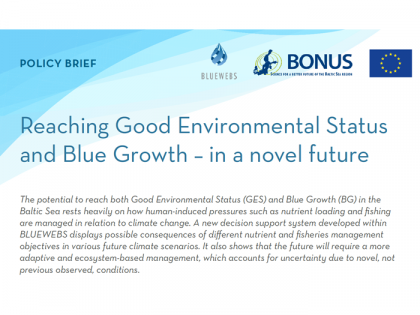 Summary of research conducted as part of the BLUEWEBS (BONUS-185) project (POLICY BRIEF)